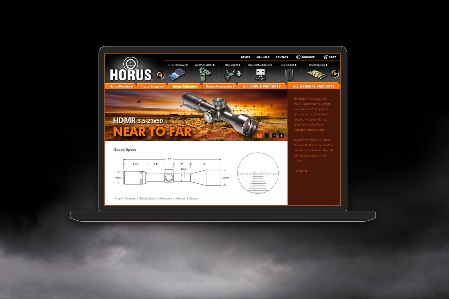 horus website intro